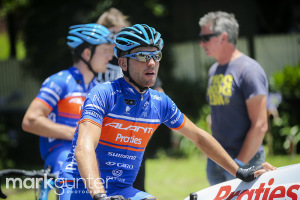Patrick Bevan was looking strong on the climbs.