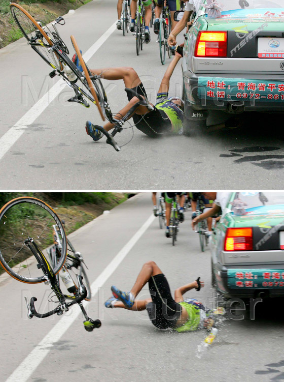 Tour Qinghai Lake Famous Bike Crash